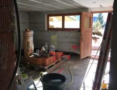 Baustelle: Wohn- und Essbereich